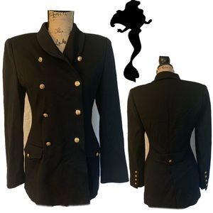 Sonia Rykiel Vintage Black Luxury Coat 100% Wool